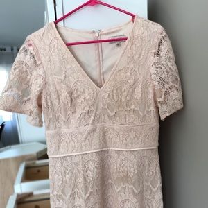 """LOVELY"" ADRIANNA PAPELL LIGHT PINK DRESS"